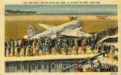arp001224 - La Guardia Airport, NY USA Airport, Airports Post Card, Post Card