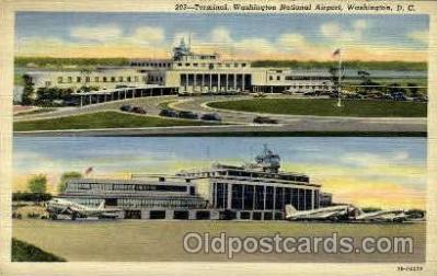 arp001239 - Terminal Washinton National Airport, Washington DC USA Airport, Airports Post Card, Post Card