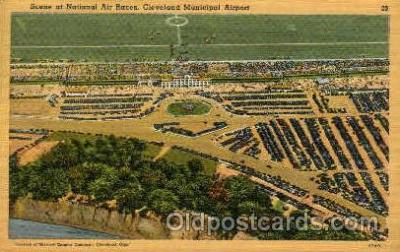 arp001249 - National Races, Cleveland, OH USA Airport, Airports Post Card, Post Card