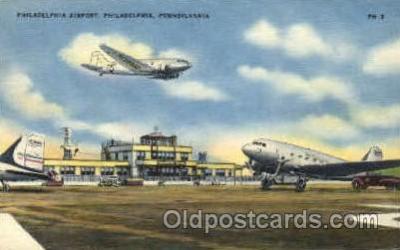 arp001252 - Philadelphia Airport, Philadelphia. PA USA Airport, Airports Post Card, Post Card