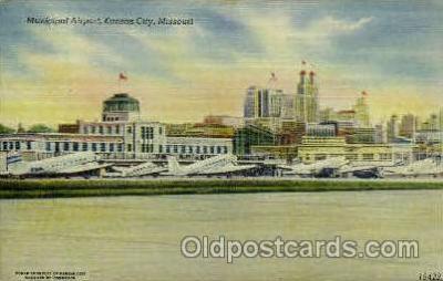 arp001264 - Municipal Airport, Kansas City, MO USA Airport, Airports Post Card, Post Card