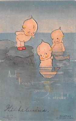 art053015 - Rose O'Neill, pop out Kewpies Postcard Post Card