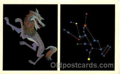 ast001007 - Lupus The Wolf Astrology Postcard Post Card