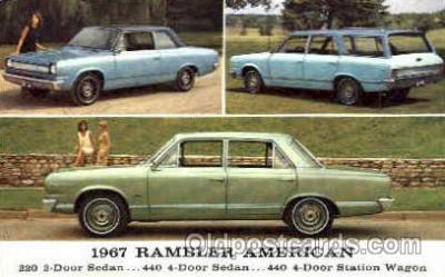 aut100010 - 1967 Rambler American Auto, Automobile, Car, Postcard Post Card