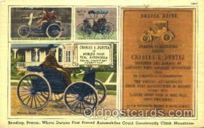 Charles E. Duryea, invented first gasoline auto