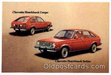aut100060 - 1981 Chevette Hatchback Coupe/Sedan Auto, Automobile, Car, Postcard Post Card