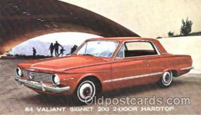 aut100068 - 1964 Valiant Signet 200 Hardtop Auto, Automobile, Car, Postcard Post Card