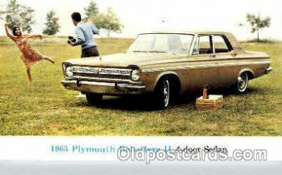 aut100073 - 1965 Plymouth Belvedere 2 Auto, Automobile, Car, Postcard Post Card