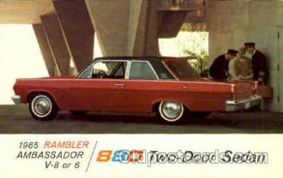 aut100094 - 1965 Rambler Ambassador Auto, Automobile, Car, Postcard Post Card