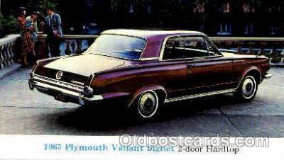 aut100124 - 1966 Plymouth Valiant Signet Auto, Automobile, Car, Postcard Post Card