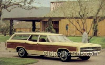 aut100226 - 1969 ford country squire Automotive, Car Vehicle, Old, Vintage, Antique Postcard Post Card