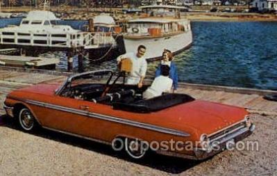 aut100297 - galaxie 500 sunliner in rangoon red Automotive, Car Vehicle, Old, Vintage, Antique Postcard Post Card
