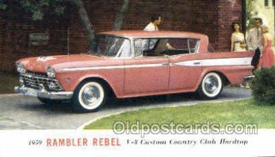 aut100299 - 1959 rambler rebel v8 custom club hardtop Automotive, Car Vehicle, Old, Vintage, Antique Postcard Post Card