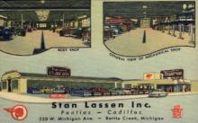 AUT100001 - Stan Lassen Inc, Pontiac - Cadillac 320 w. Michigan Ave. Battle Creek, Michigan USA Postcard Post Card