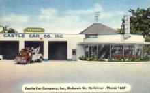 AUT100004 - Castle Car Company, Inc., Mohawk St., Herkimeer, New York USA-  Ford, Lincoln, Edsel Postcard Post Card