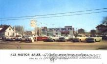 AUT100162 - ACE Motor Sales, Paulsboro, New Jersey, NJ, USA Auto Dealer, Dealership Postcard Post Card