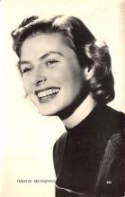 act002166 - Ingrid Bergman Actor, Actress, Movie Star, Postcard Post Card