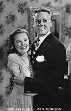 act002172 - June Allyson & Van Johnson Actor, Actress, Movie Star, Postcard Post Card