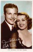 act002173 - Joan Blondell & Dick Powell Actor, Actress, Movie Star, Postcard Post Card