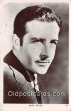 act002227 - John Bloes Movie Actor / Actress, Entertainment Postcard Post Card