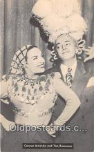 act002275 - Carmen Miranda & Tom Breneman Movie Actor / Actress, Entertainment Postcard Post Card