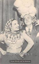 act002279 - Carmen Miranda & Tom Breneman Movie Actor / Actress, Entertainment Postcard Post Card