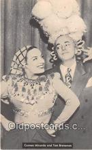 act002289 - Carmen Miranda & Tom Breneman Movie Actor / Actress, Entertainment Postcard Post Card