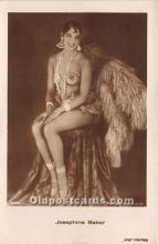 act002302 - Josephine Baker Black Entertainer Old Vintage Postcard