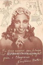 act002306 - Josephine Baker Black Entertainer Old Vintage Postcard