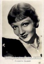 act003022 - Claudette Colbert Postcard, Post Card