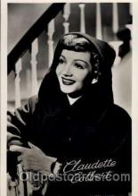 act003029 - Claudette Colbert Postcard, Post Card