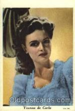 act003121 - Yvonne De Carlo Trade Card Actor, Actress, Movie Star, Postcard Post Card
