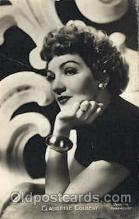 act003136 - Claudette Colbert Actor, Actress, Movie Star, Postcard Post Card