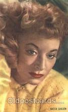 act007178 - Greer Garson Trade Card Actor, Actress, Movie Star, Postcard Post Card