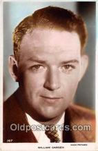 act007192 - William Gargen Movie Actor / Actress, Entertainment Postcard Post Card