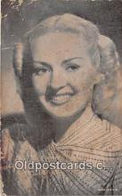 act007224 - Betty Grable Movie Actor / Actress, Entertainment Postcard Post Card