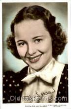 act008073 - Olivia De Havilland Actress/ Actor Postcard Post Card Old Vintage Antique