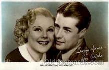 act008083 - S. Henie & D Ameche Actress/ Actor Postcard Post Card Old Vintage Antique