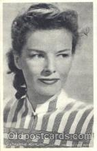 act008148 - Katharine Hepburn Trade Card Actor, Actress, Movie Star, Postcard Post Card
