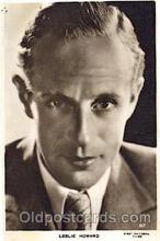 act008178 - Leslie Howard Actor, Actress, Movie Star, Postcard Post Card