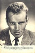 act008186 - Charlton Heston Actor, Actress, Movie Star, Postcard Post Card