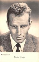 act008305 - Charlton Heston Movie Star Actor Actress Film Star Postcard, Old Vintage Antique Post Card