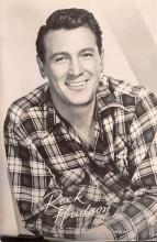act008325 - Rock Hudson Movie Star Actor Actress Film Star Postcard, Old Vintage Antique Post Card