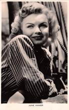 act008338 - June Haver Movie Star Actor Actress Film Star Postcard, Old Vintage Antique Post Card