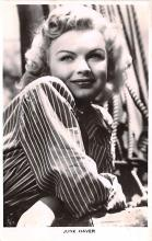 act008339 - June Haver Movie Star Actor Actress Film Star Postcard, Old Vintage Antique Post Card