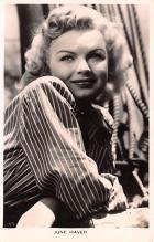 act008341 - June Haver Movie Star Actor Actress Film Star Postcard, Old Vintage Antique Post Card