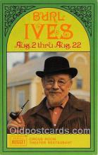 act009002 - Burl Ives Movie Actor / Actress, Entertainment Postcard Post Card