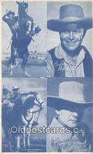 act010030 - Lone Ranger, Bill Elliott Movie Actor / Actress, Entertainment Postcard Post Card