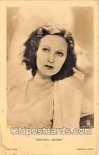 act010031 - Dorothy Jordan Movie Actor / Actress, Entertainment Postcard Post Card