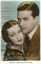 act012130 - Dorothy Lamour & Ray Milland Actor, Actress, Movie Star, Postcard Post Card